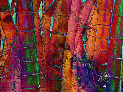 Mixed Media - Bamboo Delight by Kiki Art