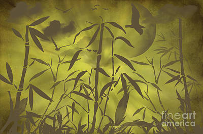 Brown Tones Mixed Media - Bamboo Garden by Angela Doelling AD DESIGN Photo and PhotoArt