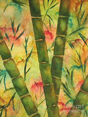 Chrisann Painting - Bamboo Garden by Chrisann Ellis