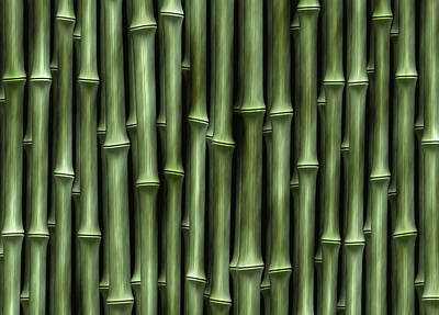 Bamboo Digital Art - Bamboo Green by Kurt Van Wagner