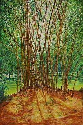 Lal Bagh Painting - Bamboo Grove - Indian Landscapes by Usha Shantharam