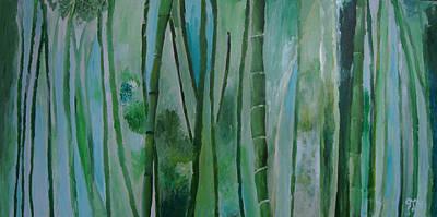 Bamboo Jungle Art Print by Jessie Nolan