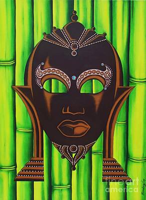 Bamboo Mask Art Print by Joseph Sonday