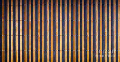 Bamboo Mat Texture Art Print