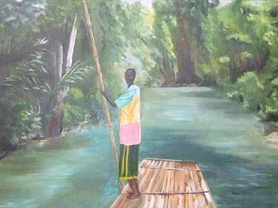Bamboo Raft Ride Art Print