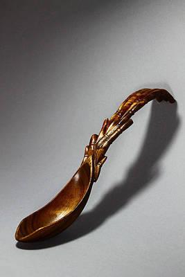 Bamboo Spoon 1 Art Print by Abram Barrett
