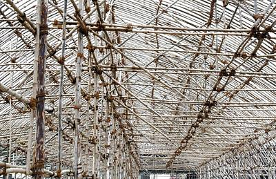 Photograph - Bamboo Structure 3 by Sumit Mehndiratta