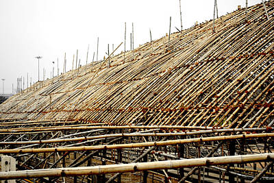 Photograph - Bamboo Structure 4  by Sumit Mehndiratta