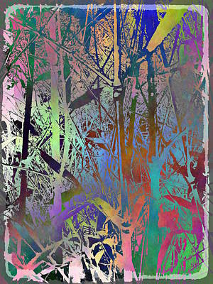 Digital Art - Bamboo Study 3 by Tim Allen