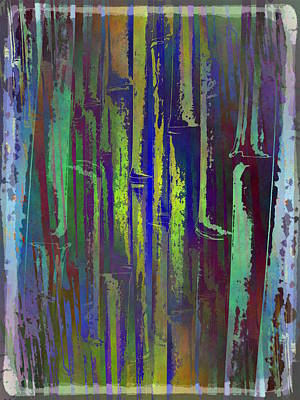 Digital Art - Bamboo Study 4 by Tim Allen