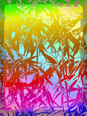 Digital Art - Bamboo Study 7 by Tim Allen