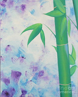 Bamboo Tryptych 1 Art Print