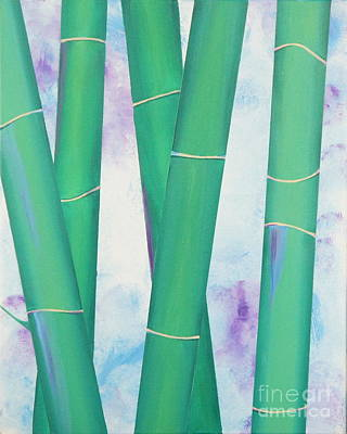 Bamboo Tryptych 2 Original by Shiela Gosselin