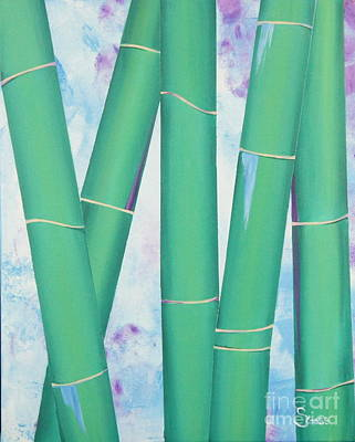 Bamboo Tryptych 3 Original by Shiela Gosselin