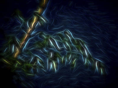 Art Print featuring the digital art Bamboo Wind 2 by William Horden