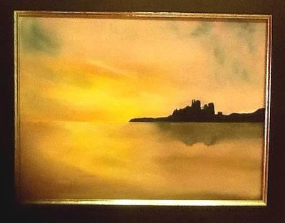Bamburgh Castle Art Print by Audrey Pollitt
