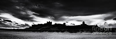 Bamburgh Castle Monochrome Art Print by Tim Gainey