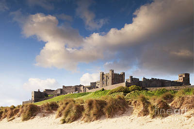 Sand Castle Photograph - Bamburgh Castle Northumberland England by Colin and Linda McKie