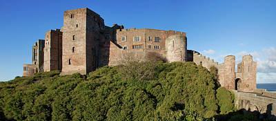 Bamburgh Castle Ruins Against A Blue Art Print