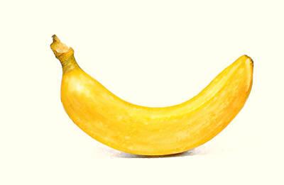 Art Print featuring the digital art Banana by David Blank