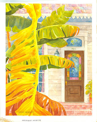 New Orleans Shotgun Houses Painting - Banana Days In The Faubourg Marigny by Joyce Hensley