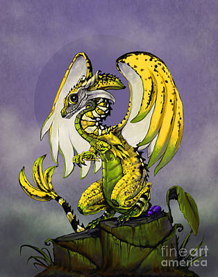 Banana Dragon Art Print