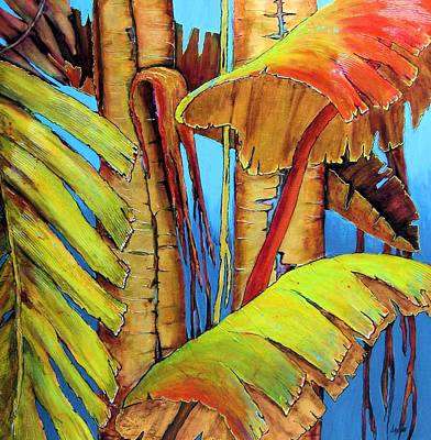 Painting - Banana Jungle by JAXINE Cummins