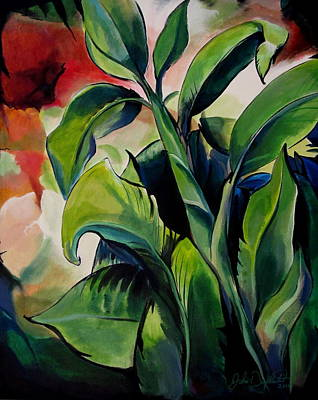 Painting - Banana Leaves by John  Duplantis
