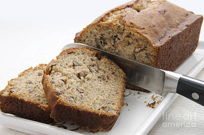 Food Photograph - Banana Nut Bread by Andee Design