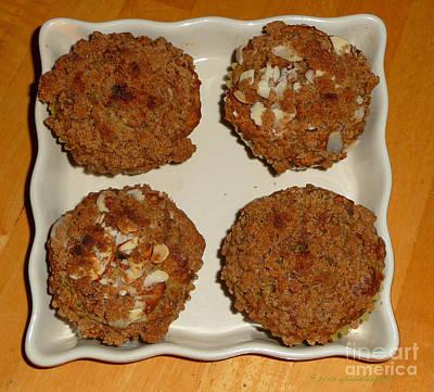 Banana Oat Crunch Muffins Art Print
