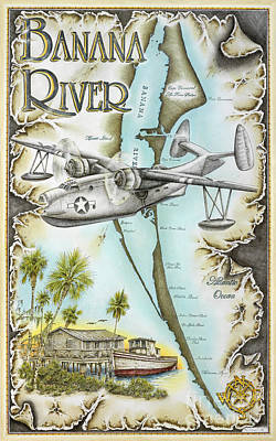 Banana River Flyer Original by Mike Williams