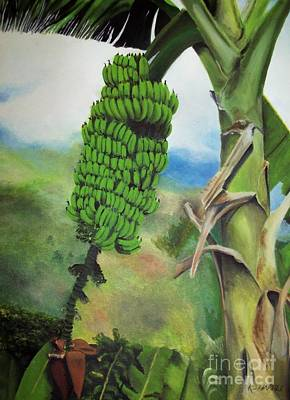 Fruit Tree Art Painting - Banana Tree by Kenneth Harris