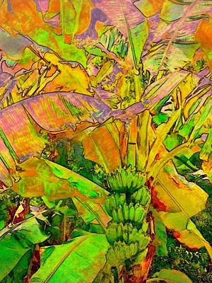 Painting - Banana Tree With Bunch - Vertical by Lyn Voytershark