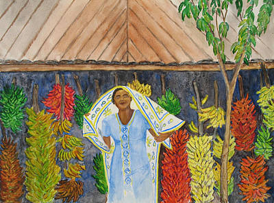 Painting - Banana Vendor by Patricia Beebe