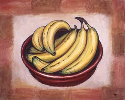 Fruit Painting - Bananas by Linda Mears