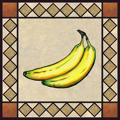 Fruit Painting - Bananas One by Linda Mears