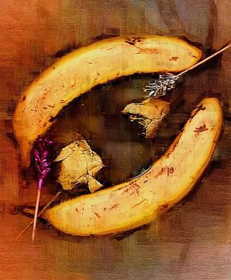 Banana Mixed Media - Bananas Pop Art by Pepita Selles