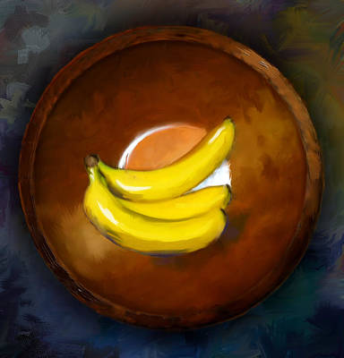 Painting - Bananas by Steven Lester