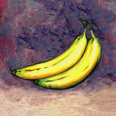 Yellow Bananas Painting - Bananas Three by Linda Mears