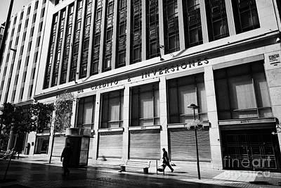 banco de credito e inversiones bci bank Santiago Chile Art Print