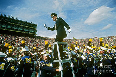 Marching Band Photograph - Band Director by James L. Amos