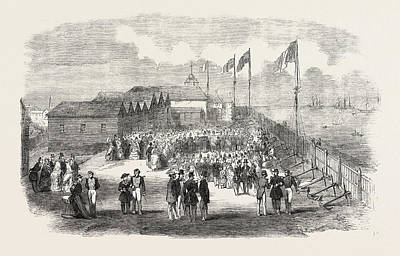 3rd Division Drawing - Band Of The 3rd French Regiment Playing In H by English School