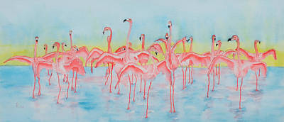 Wings Of A Bird Painting - Band On The Run by Rhonda Leonard