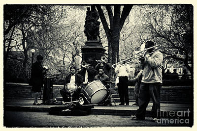 Band On Union Square New York City Art Print by Sabine Jacobs