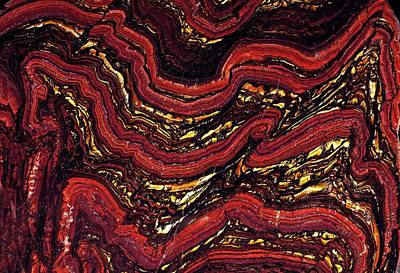 Bif Photograph - Banded Ironstone Formation (bif) by Dirk Wiersma
