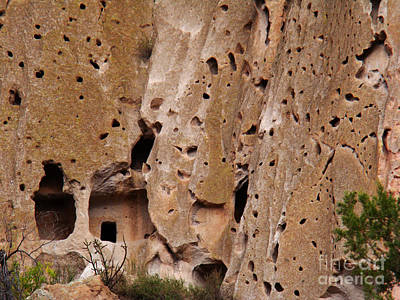 Photograph - Bandelier Caves by Eva Kato