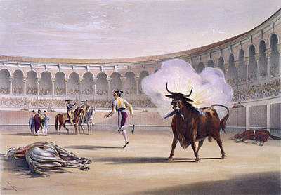 Bull Photograph - Banderillas De Fuego by British Library