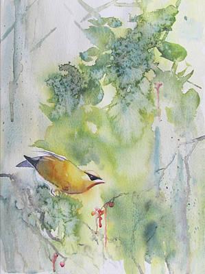 Cedar Waxwings Painting - Bandit 2 by Amanda Amend