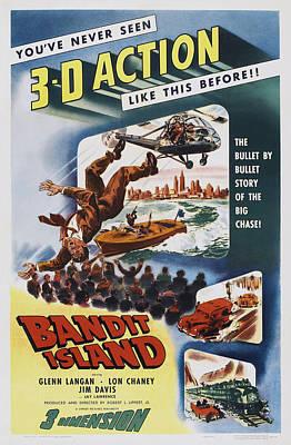 1953 Movies Photograph - Bandit Island, Poster Art, 1953 by Everett