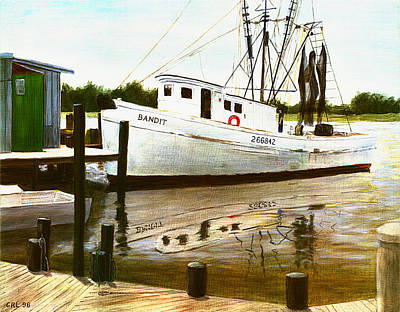 Painting - Bandit Morehead City North Carolina by G Linsenmayer
